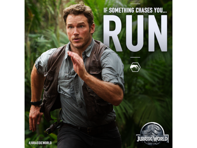 Owen Grady Fugge da Jurassic World