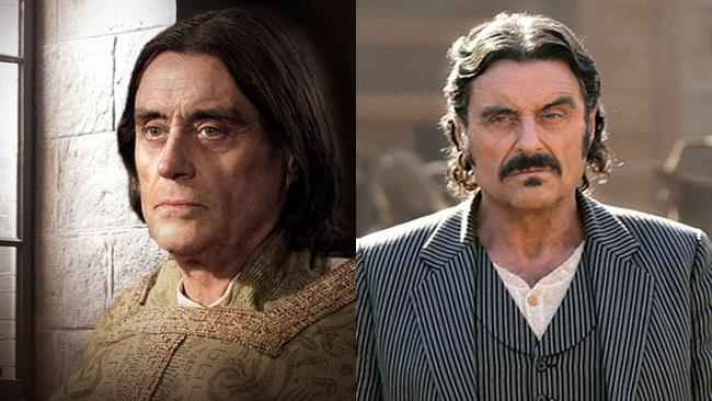 Ian McShane nelle serie The Pillars Of The Earth e Deadwood