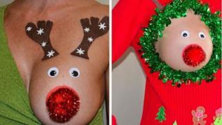 Le decorazioni natalizie per le tette