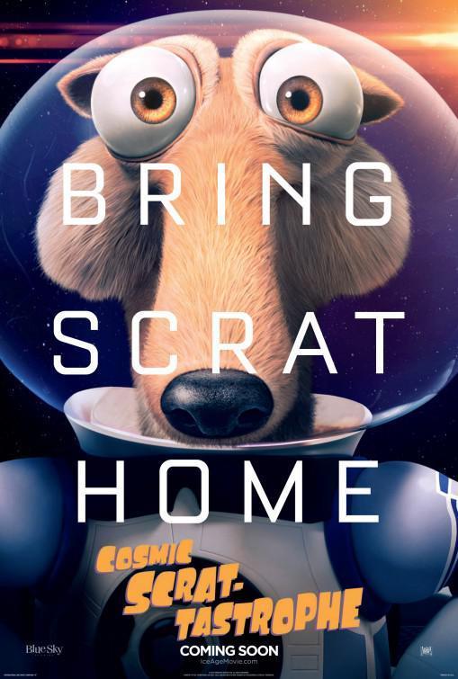 La locandina di Scrat-Tastrofe cosmica prende in giro The Martian di Matt Damon