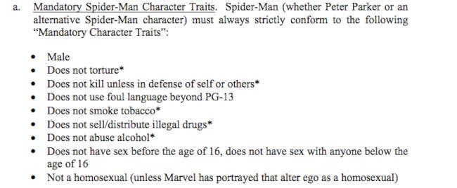 Le caratteristiche di Spider-Man secondo l'accordo Marvel/Sony
