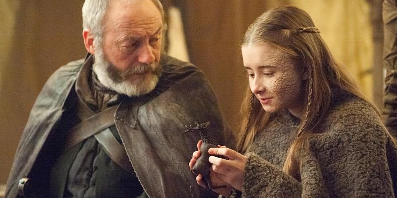 Shireen e Davos in Game of Thrones