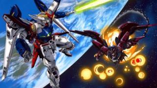 Due robot si danno battaglia in Gundam