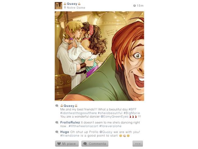 Foto che Quasimodo potrebbe postare su Instagram