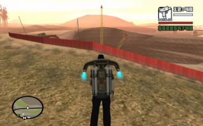 Il jetpack in Grand Theft Auto: San Andreas