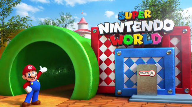 L'entrata di Super Nintendo World