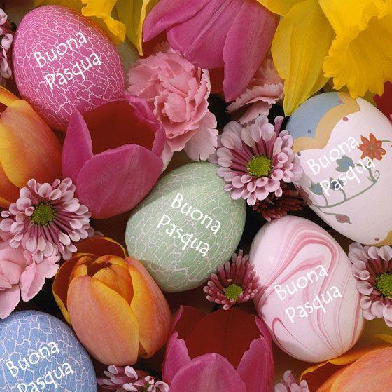 Un cesto di uova - Immagini per auguri di Buona Pasqua