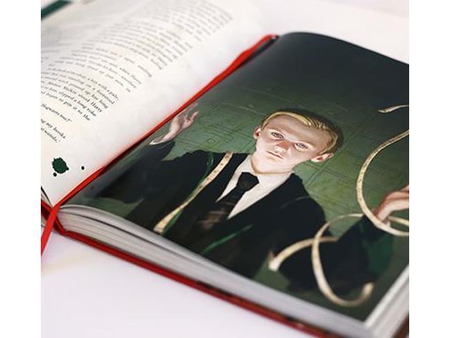 Interno dell'edizione illustrata di Harry Potter e la Pietra Filosofale