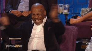 Mike Tyson che scoppia a ridere - GIF di reazione ai commenti, le più divertenti da usare su Whatsapp e Facebook