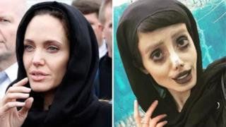 La Jolie a sinistra, Sahar Tabar a destra