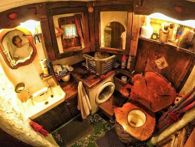 La sala da bagno nella casa di Bilbo