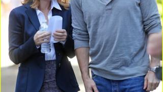 Foto dal set di X-Files: Mulder e Scully in pausa