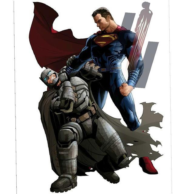 Superman ha la meglio su Batman nella nuova concept art