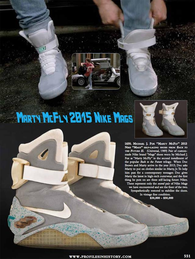 Le Nike Air Mag di Ritorno al Futuro all'asta