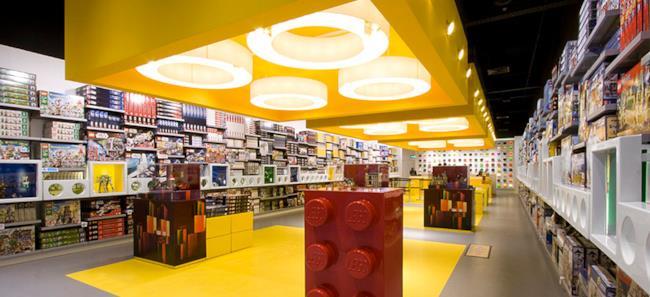 L'interno di uno dei LEGO Store