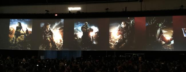I chracter poster del film di Warcraft al San Diego Comic-Con