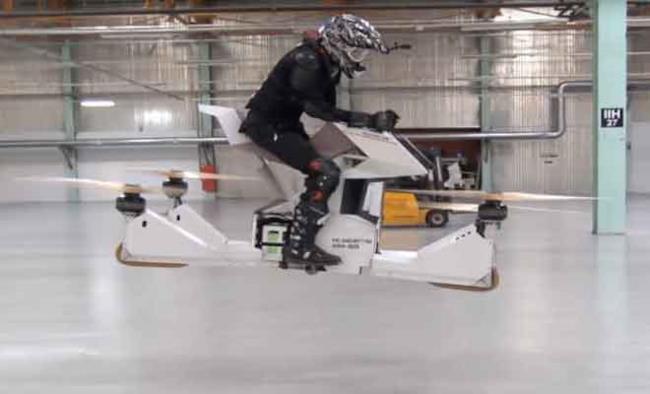 Un'immagine dell' Hoverbike