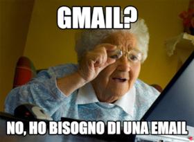 Gmail? No, ho bisogno di una email