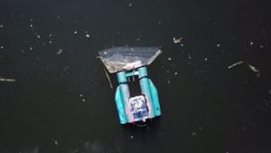 Il Trashbot in azione