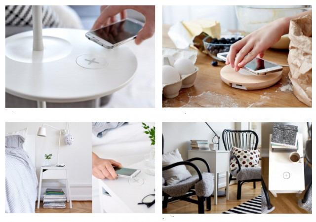 La nuova linea di mobili IKEA che ricarica lo smartphone senza fili