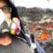 Il magma immortalato in un selfie