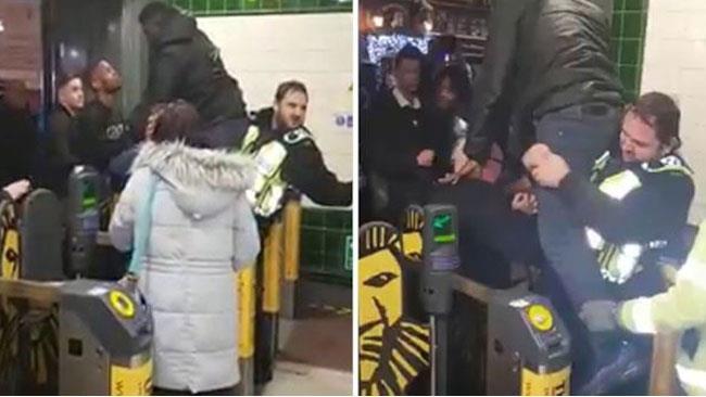 Lo scroccone rimasto incastrato in metro