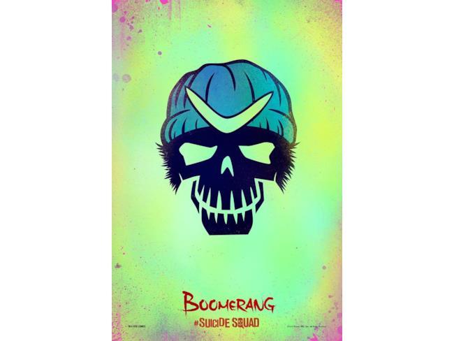 Il cartoon poster di Captain Boomerang in Suicide Squad