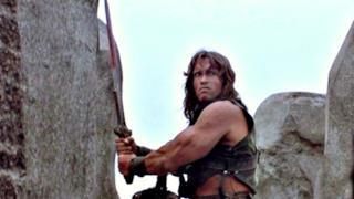 Arnold Schwarzenegger nel film Conan il barbaro