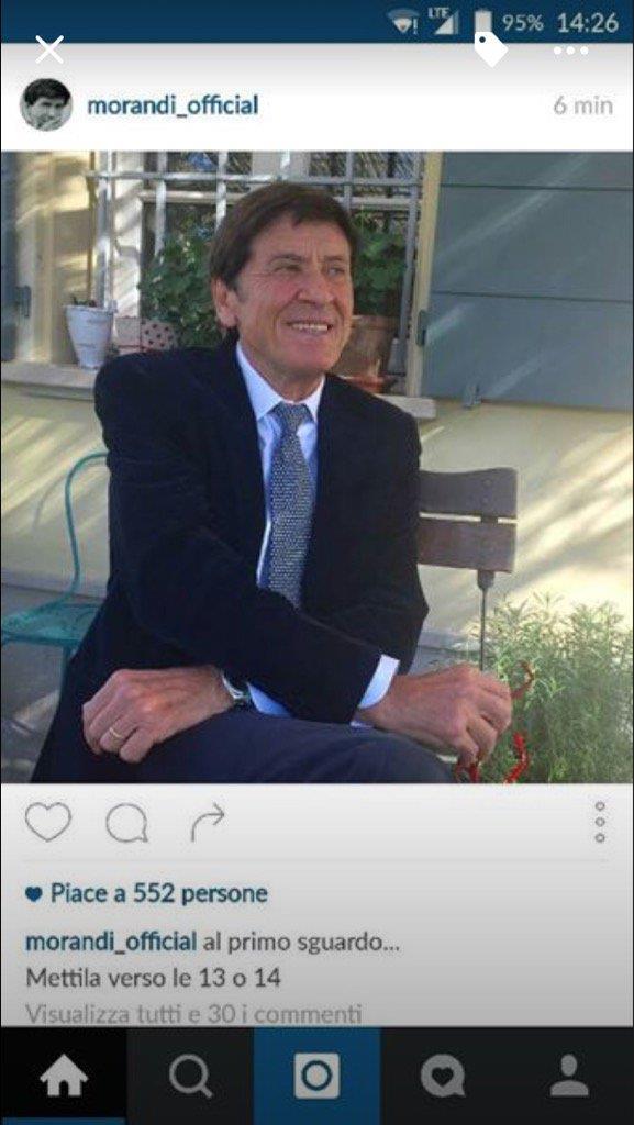 Gianni Morandi e il suo errore su Instagram