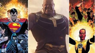 Thanos tra Sinestro e Superman, protagonisti delle più belle storie DC.