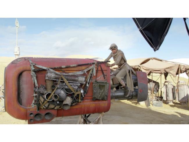 Lo speedster di Rey sul set