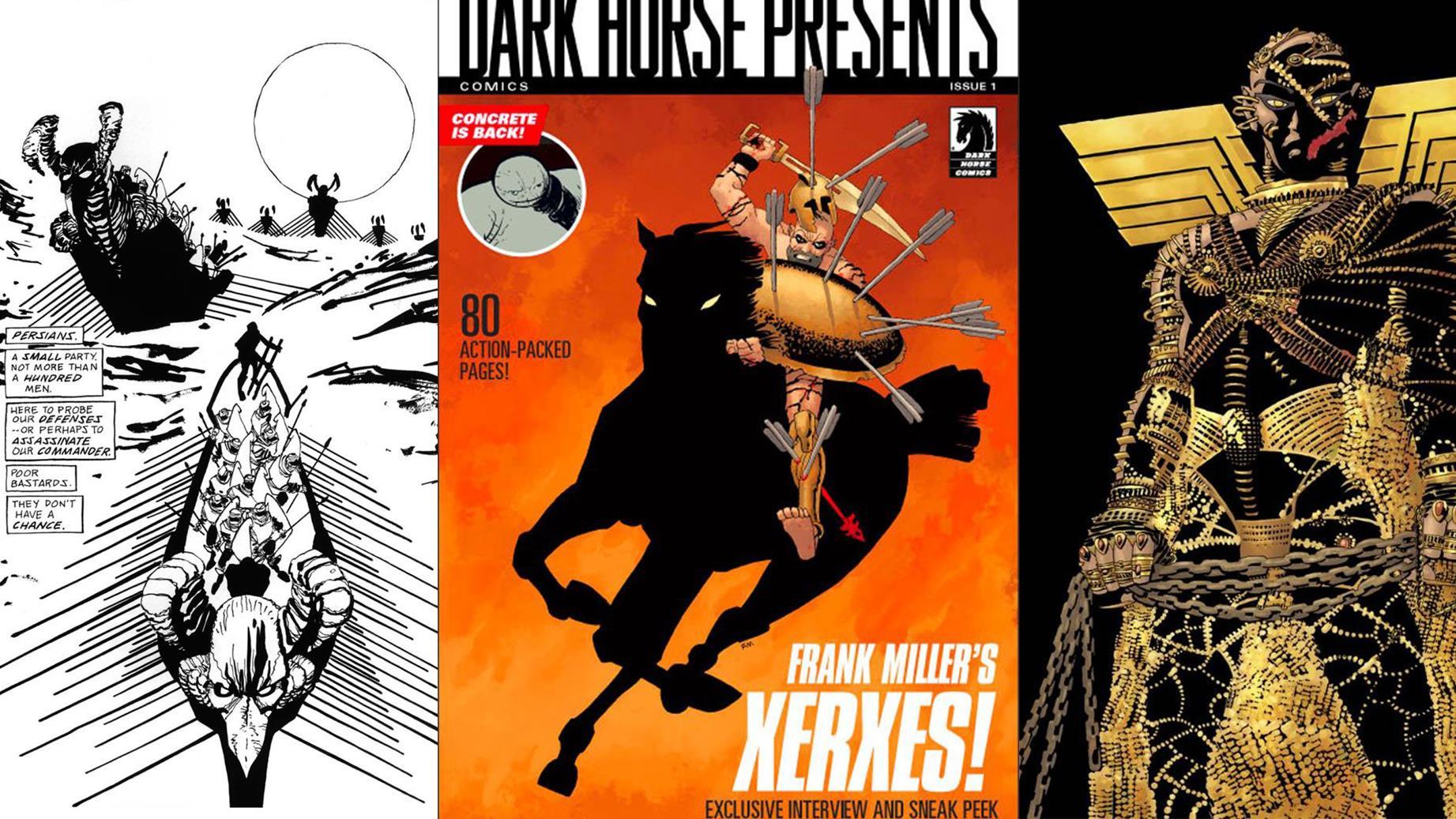 Xerxes: la copertina e due tavole.