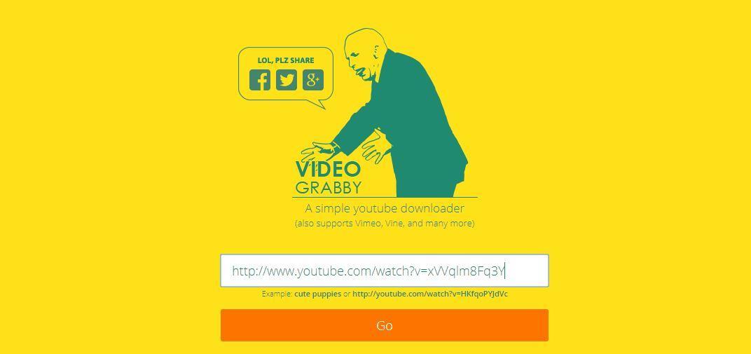 La homepage di videograbby - Come scaricare musica da YouTube