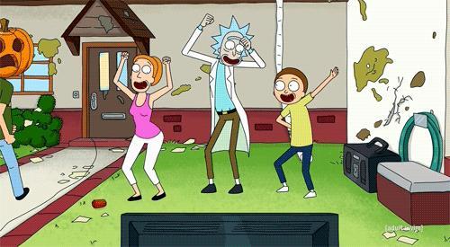 Una scena della serie animata