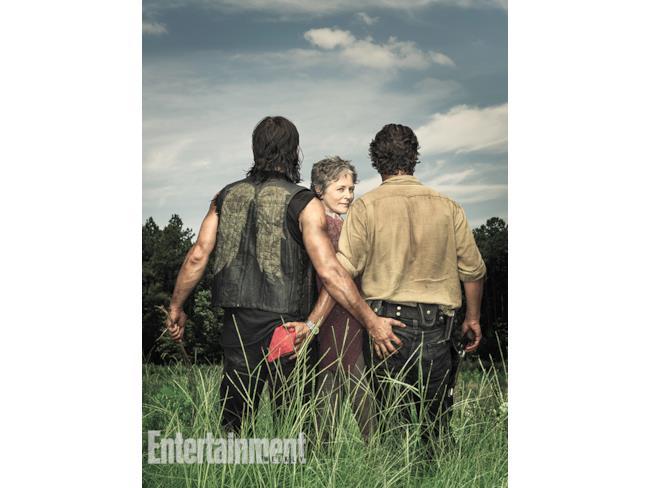 Rick, Carol e Daryl su EW visti da dietro