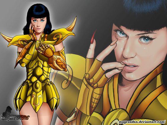 Un'art dedicata a Katy Perry basata su Saint Seiya