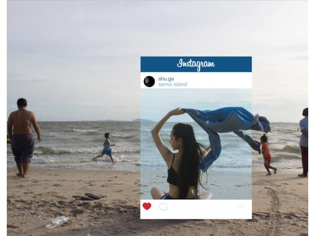 Il mare in uno scatto da sogno su Instagram