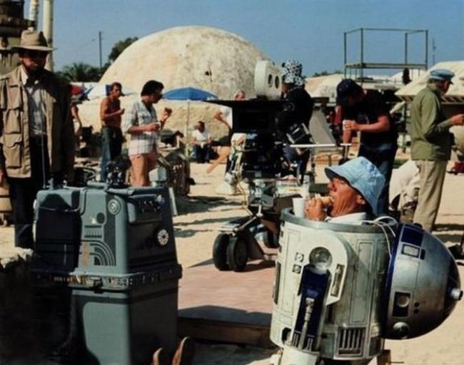 Immagine che raffigura una pausa pranzo sul set di Star Wars