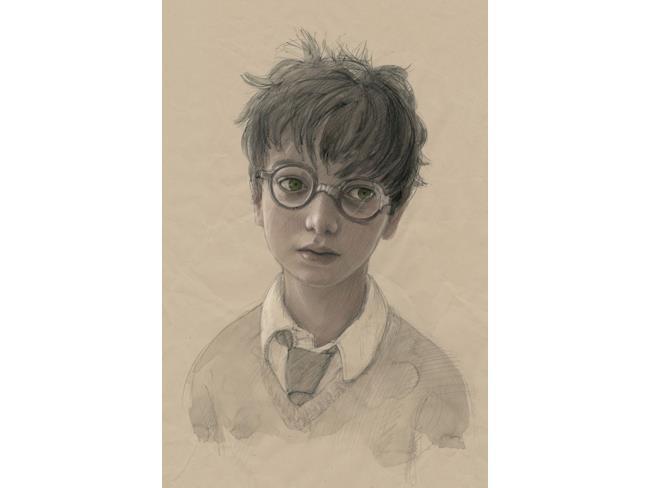 Illustrazione di Jim Kay di un giovane Harry Potter