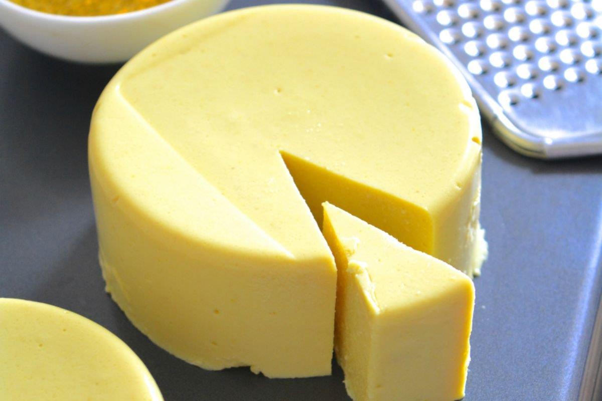 La foto di un po' di formaggio