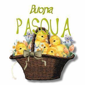 Un cesto pieno di pulcini - Immagini per auguri di Buona Pasqua