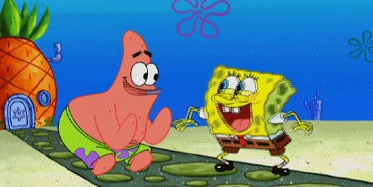 Spongebob dà il 5 - GIF di reazione ai commenti, le più divertenti da usare su Whatsapp e Facebook