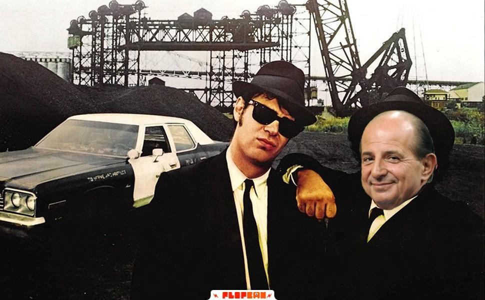 Immagine dei Blues Brothers con Magalli