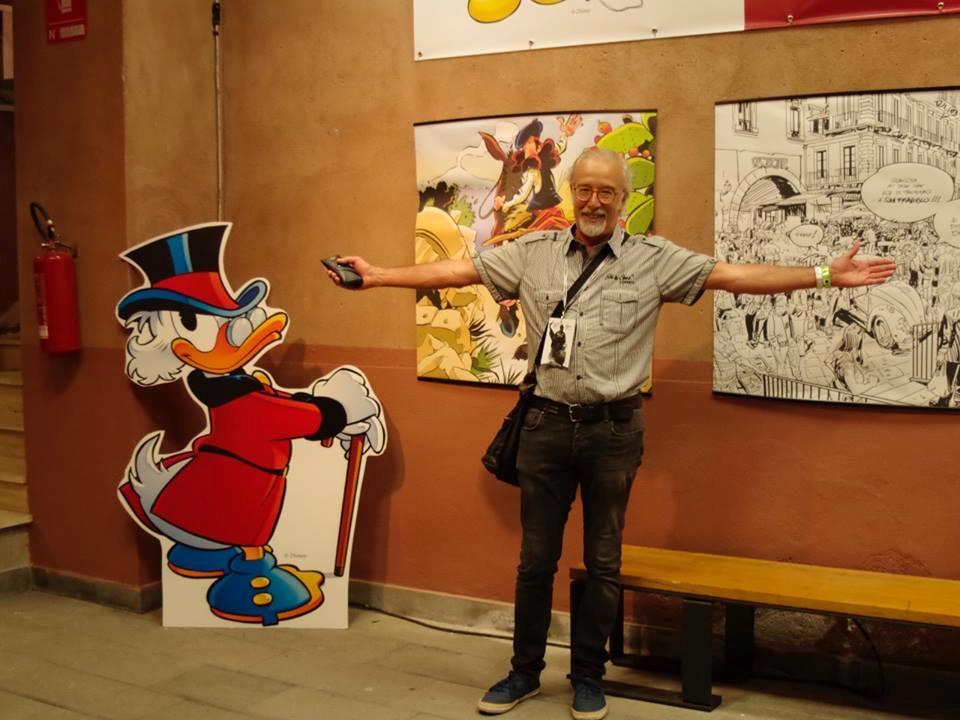 La mostra di Giorgio Cavazzano con l'autore