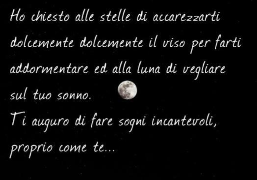 La Luna con una frase romantica