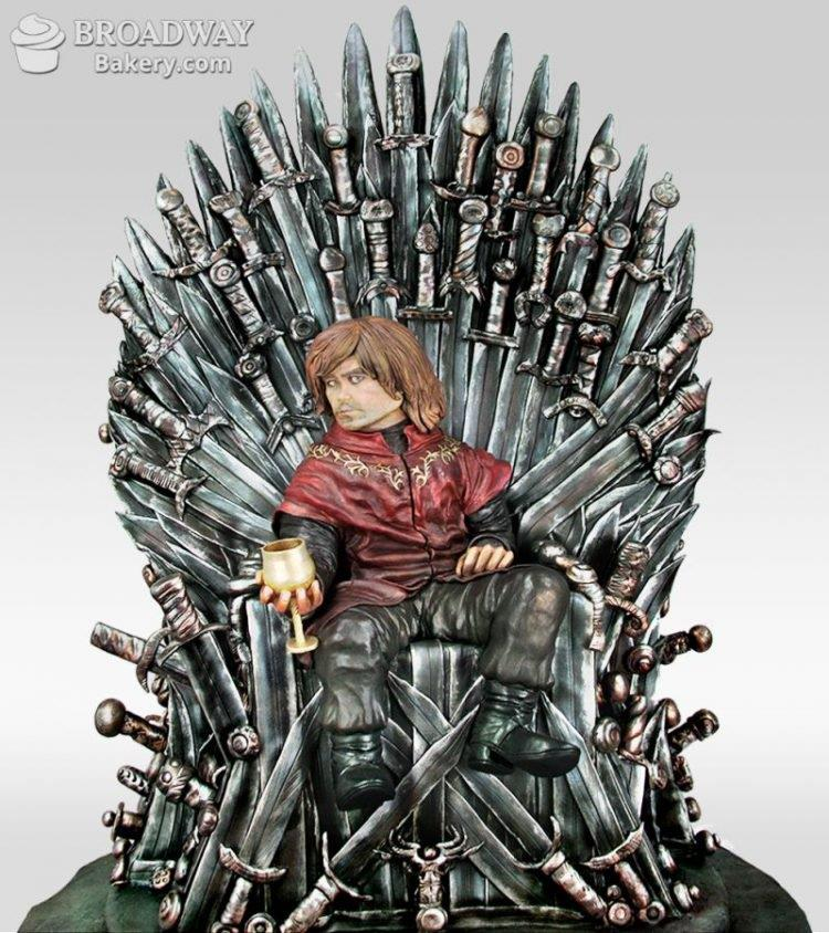 Tyrion Lannister sulla torta che omaggia Game of Thrones