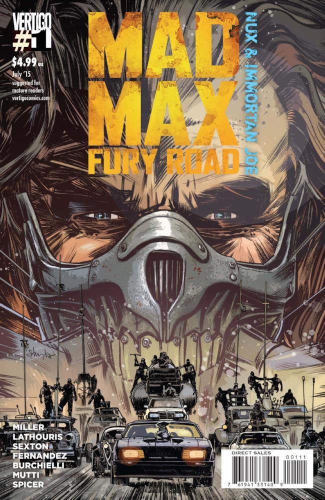 Mad Max: Fury Road, copertina del primo volume dei fumetti