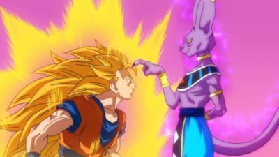 Goku fronteggia Beerus