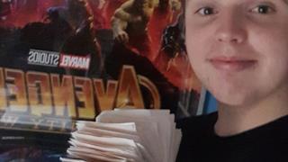 Kieran è un super fan della Marvel. Ha visto il nuovo Avengers: Infinity War ben cento volte