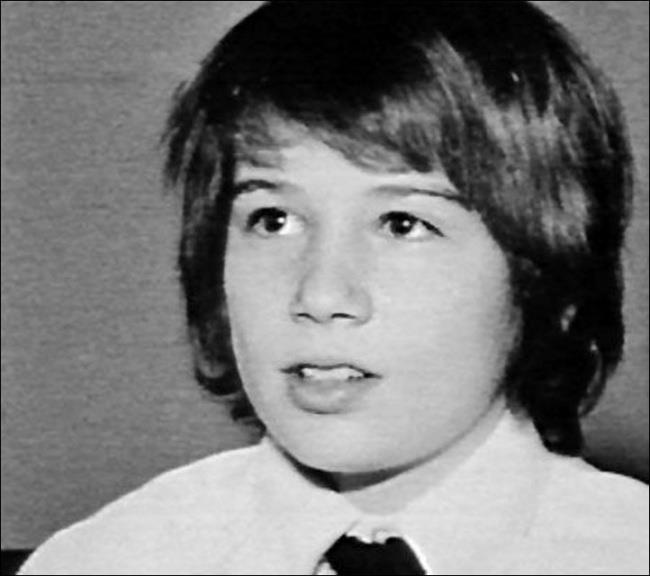 Un'immagine di David Duchovny da adolescente